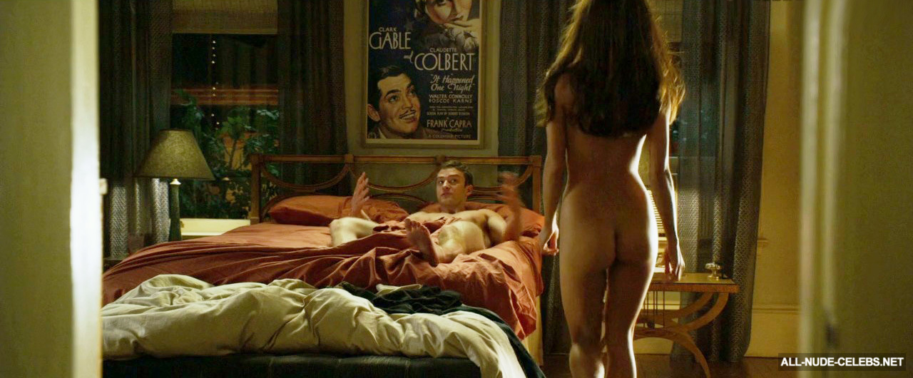 Mila kunis naked in front of her portrait, in michael amay's famous nudes comic art gallery room