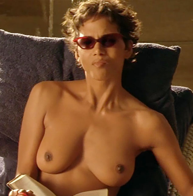 Halle berry show her new hairy pussy